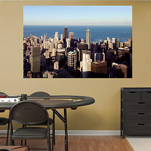 Chicago Skyline Mural Fathead Wall Decal